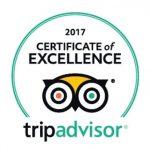 Certificado de excelencia 2017 Trip Advisor